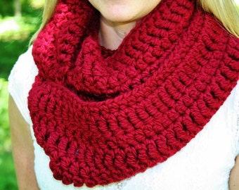 CROCHET PATTERN Easy infinity scarf PATTERN  Instant Download