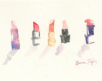Lipsticks Giclee Print