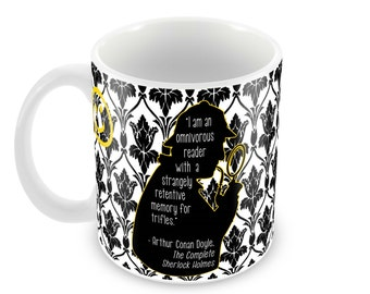 Sherlock Holmes Ceramic Mug with Wallpaper & Quote