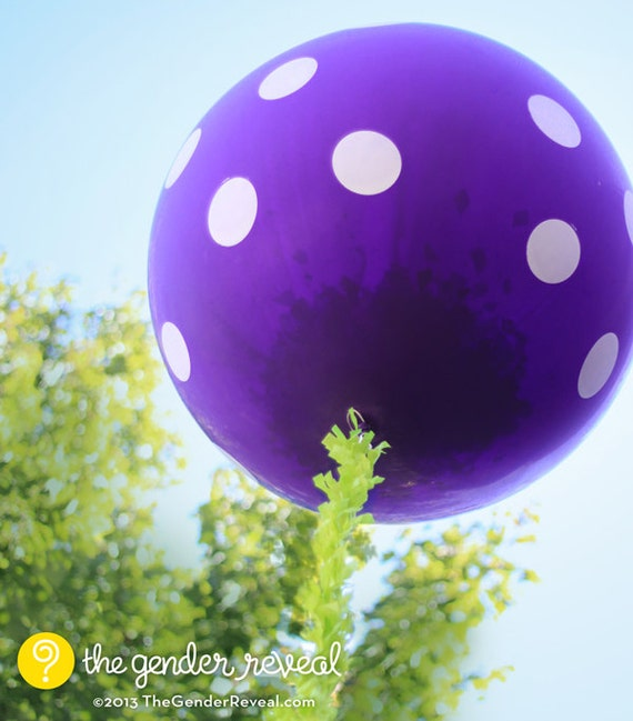 Purple - Confetti Balloon Revealer for Gender Reveal Parties