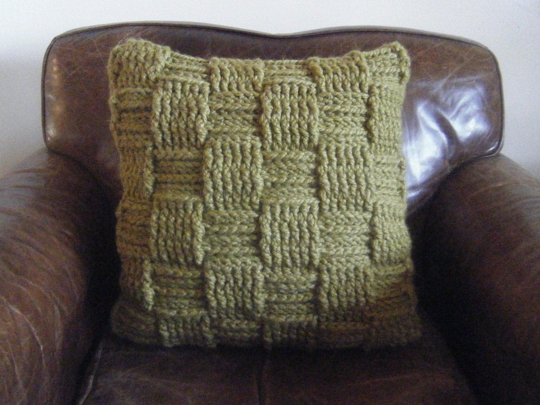 Diy crochet pattern basketweave pillow checkered woven zoom bankloansurffo Choice Image