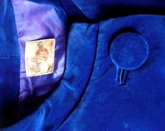 Blue Velvet Opera Coat