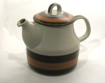 Rorstrand Teapot - Marianne Westman Annika Design - Mid-Century Modern - Made in Sweden - Hand Painted Ceramic Teapot - Circa 1970's