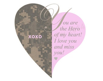 DOWNLOAD, Military Miss You, Military Love, Military Birthday, Military Valentine's Card, Military Proposal