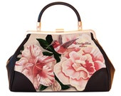 Retro handtas, Honey Bird, kerstcadeau, valentijn geschenk, verjaardagsgeschenk, geschenk moeder, Woody Ellen handtas, Vintage tas bloemen