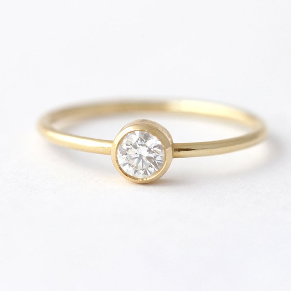 Delicate Engagement Ring Simple Engagement Ring 0 2 Carat