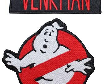 Ghostbusters Venkman Name Tag & No Ghost Uniform Applique Patch