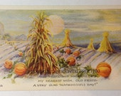 "Vintage Thanksgiving Postcard ""A Friends Thanksgiving Greeting"""