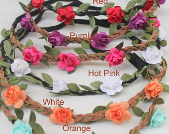 dainty flower crown headband...vintage inspired headband...Flower Girl Crown Headband..newborn..photography props..
