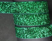 "5Yd Christmas Green 5/8"" Sparkle Ribbon Craft/Bow"