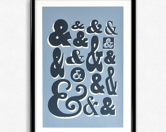 Ampersand Collection - Screen Print Poster