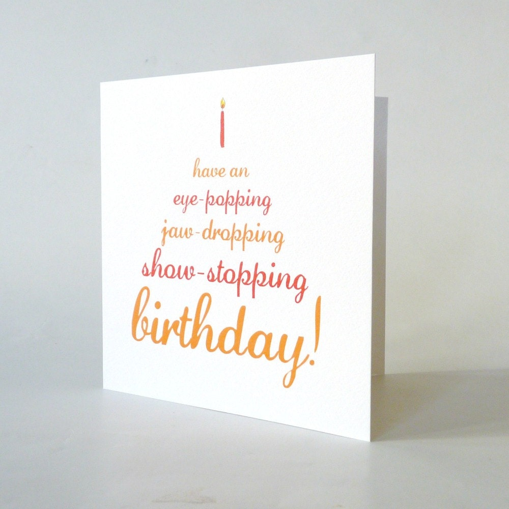 Funny birthday card cute vintage typography cake candle – Cute Birthday Card for Sister