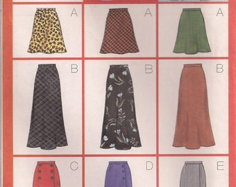 Butterick Sewing Pattern 5154 - Misses' Skirts (6-10, 12-16)