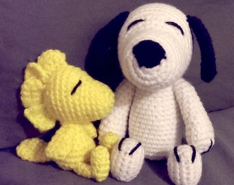 Custom Crochet Peanut's - Snoopy & Woodstock Amigurumi Set
