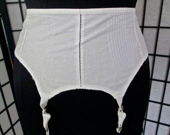 1950s vintage pinup bombshell fetish fantasy girdle garter belt- medium
