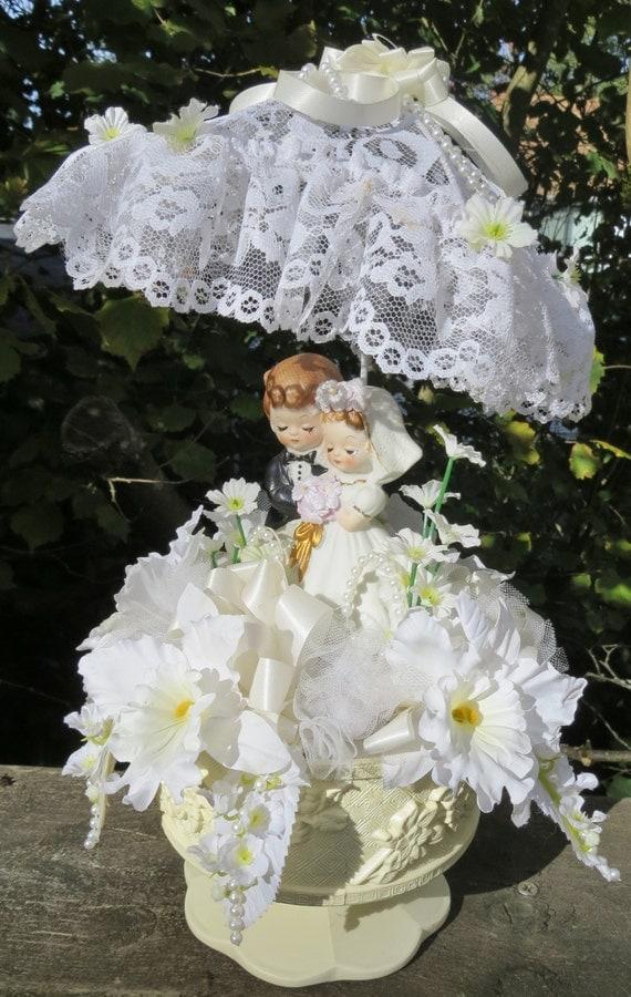 Vintage Wedding Cake Topper 1960s Wedding Cake Topper