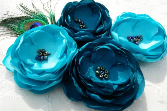 Items similar to teal aqua peacock wedding bridal sash for Peacock wedding dress sash