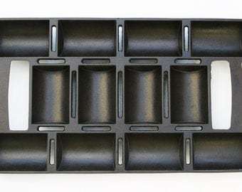 Antique Extremely Fine Cast Iron No. 11 Gem 12 Cup FRENCH ROLL Muffin Pan Professionally Cleaned & Organic Seasoned Ready to Bake