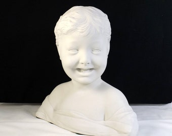 Antique Bisque Bust - Laughing Boy ca. 1900's