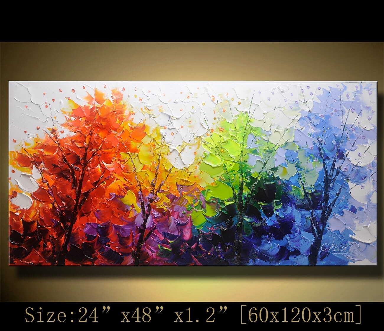 Original abstract painting modern textured painting palette for Palette knife painting acrylic