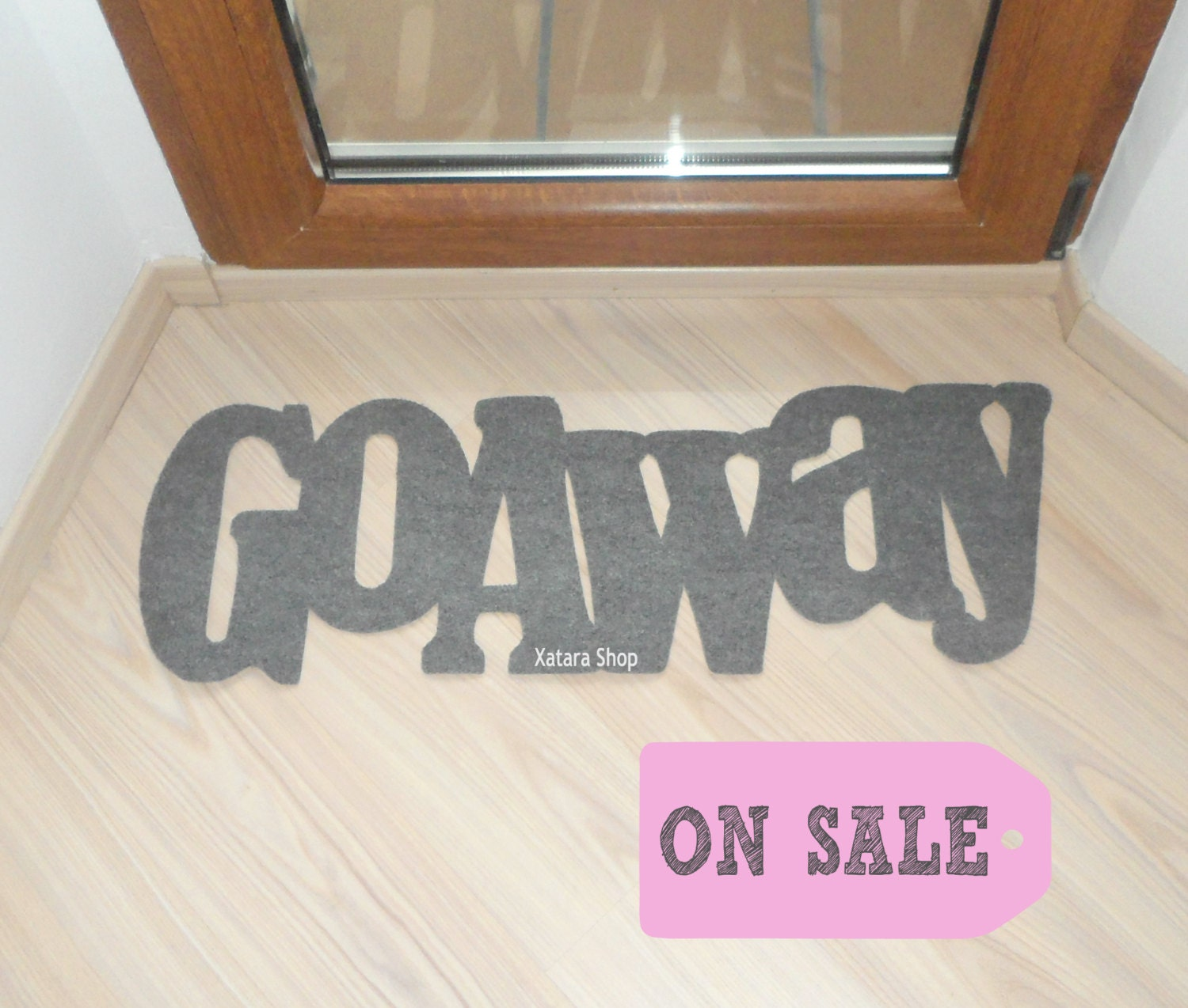 Sale Funny Door Mat Go Away Floor Mat Custom Doormat