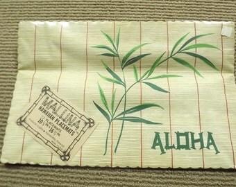 Mid Century Hawaiian Aloha Party Paper Placemats 12 USA
