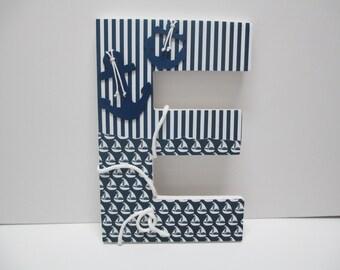 "BIG LETTER 15"" tall, 10"" across, tall nursery letters, door letter, child's door decoration"