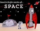 Space Oydssey: DIY Paper Craft World Tour Calendar of the Month- Download