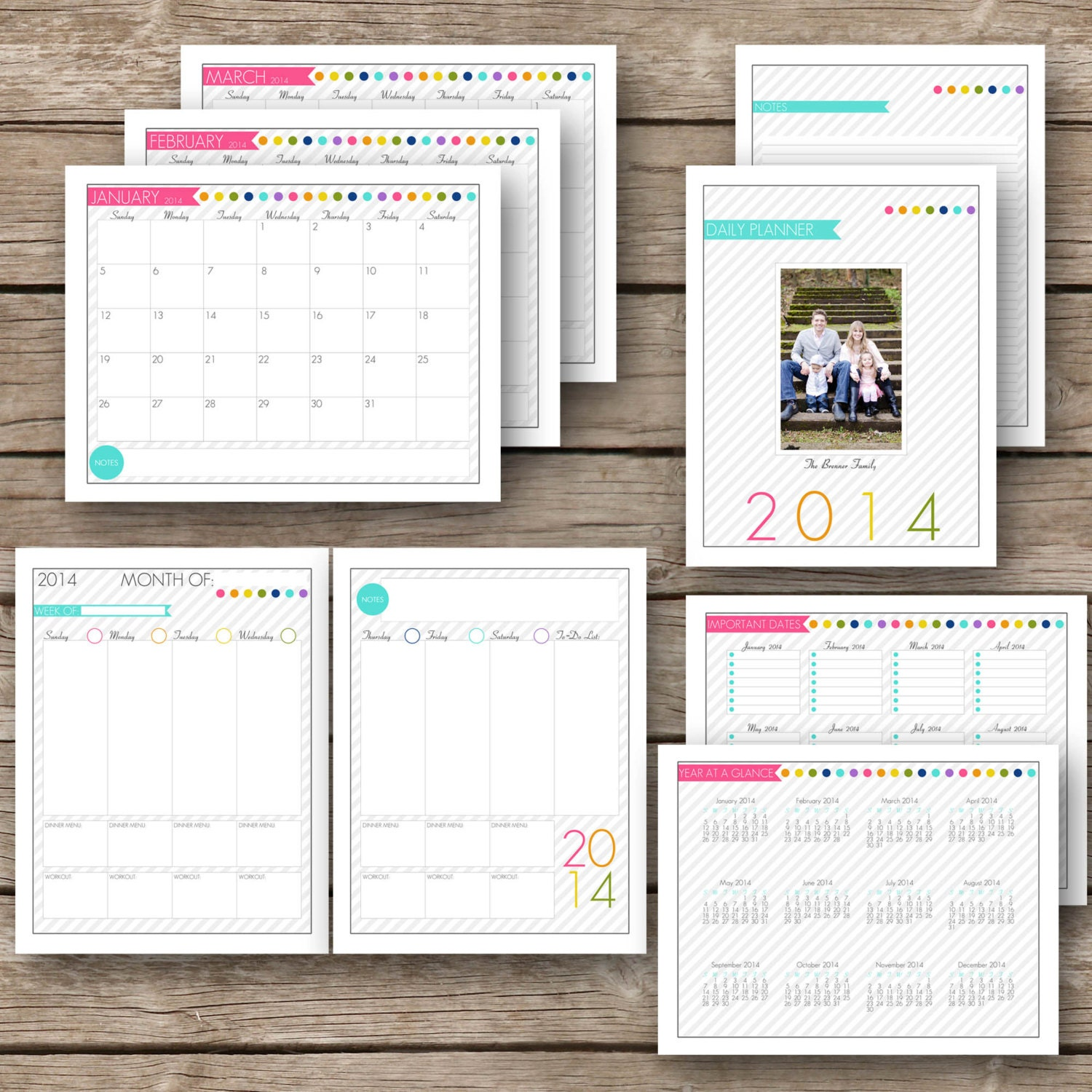 Printable Daily Planner 2014 Personalized 2014 complete day