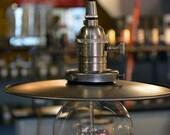 Metal Industrial Shade Pendant Light  - Minimalist Light - Industrial Hanging Light - Lamp - Kitchen Light - Bar Light