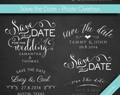 Photography Words Overlays (13) - Save the Date - 5pcs - INSTANT DOWNLOAD