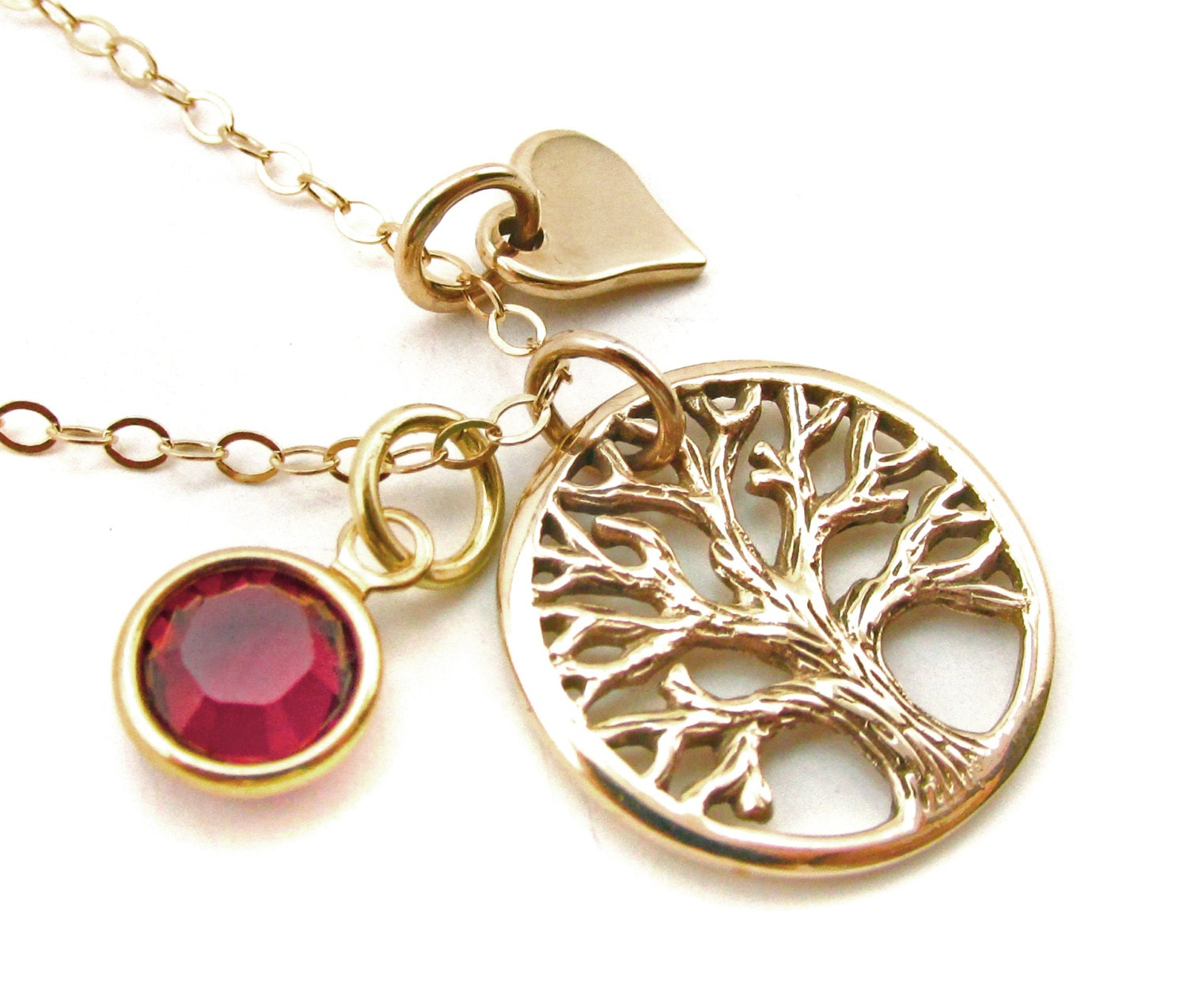 gold rustic tree of necklace gold mothers necklace