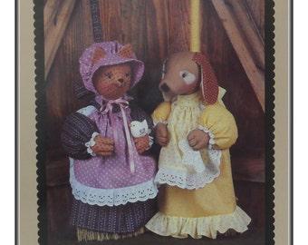 Broom Cover Sewing Pattern, Cleo & Daffodil, Putnam Pattern Co., Vintage 1988, Uncut