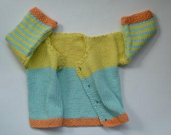 Baby gift,knit baby cardigan,organic cotton,free shipping