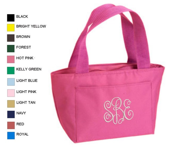 Personalized Embroidered Monograms Cooler Lunch Bag by Arts and Soles
