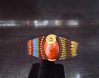Vintage, Handmade, Multi-color, Woven, Bracelet