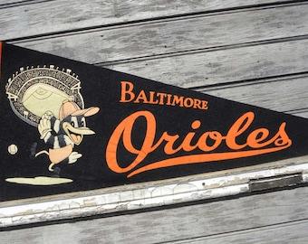 Baltimore Orioles  Baseball Penant vintage  ZSBO