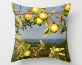 Photo pillow cover Apples over Grand Traverse Bay