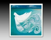 Angel of the Sea Ceramic Tile with Hook