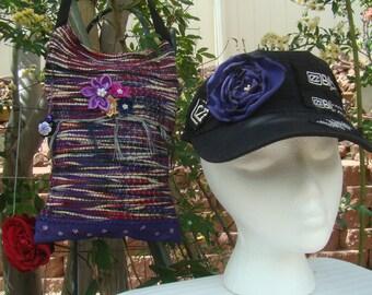 Purple Woven Rug bag 100B