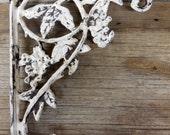 Medium Cast iron brackets, Shabby corner braces, Rusty Shelf Brackets, French Country shelf brackets, Distressed cast iron brackets