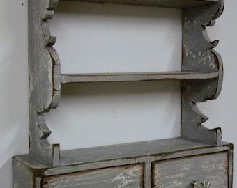 French country wall shelf, cottage chic wall shelf, kitchen shelf, victorian wall shelf, antique style wall shelf
