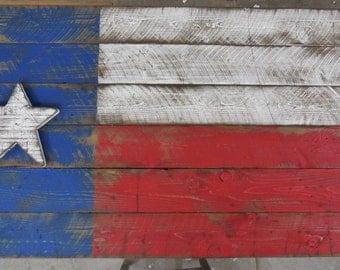 Barn Wood Style Texas Flag, Rustice Texas Flag, Americana Flag, Texas Flag, Patriotic Texas Flag, Americana Decor, Primitive Texas Flag