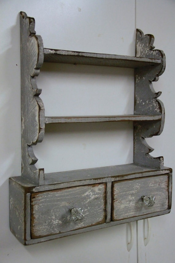 French Country Wall Shelf Cottage Chic Wall Shelf Kitchen