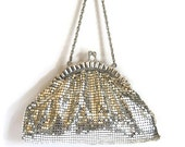 Whiting & Davis Silver Mesh Evening Bag Vintage Bags and Purses Mesh Purse Bridal Purse Accessories Collectibles Gift for Her