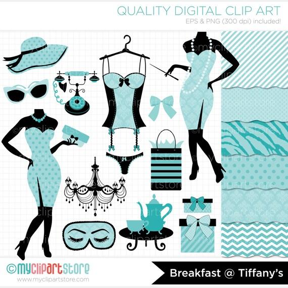 Clipart Combo Breakfast at Tiffany's / Slumber Party