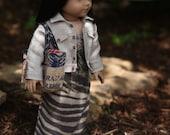 Safari Maxi Dress with Buff Jean Jacket and Picnic Tote