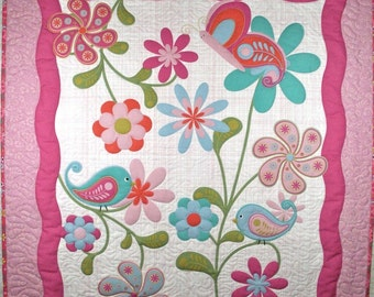 Birds, Butterflies and Flowers Quilt
