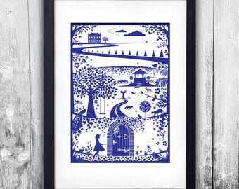 The Secret Garden print available to choose in different sizes