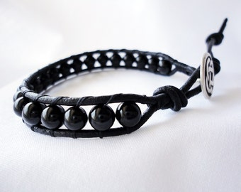 agate black single women Product features one single white bead you will get two bracelets, one for you.